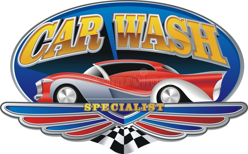 Download Car wash stock vector. Image of coupe, horsepower, wings - 30008784