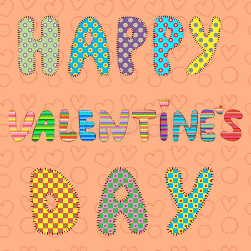 Illustration card of Valentine's day. Additional format EPS 8.0 royalty free stock image