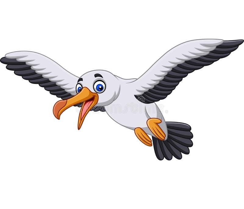 Cartoon albatross bird flying. Illustration of Cartoon albatross bird flying royalty free illustration