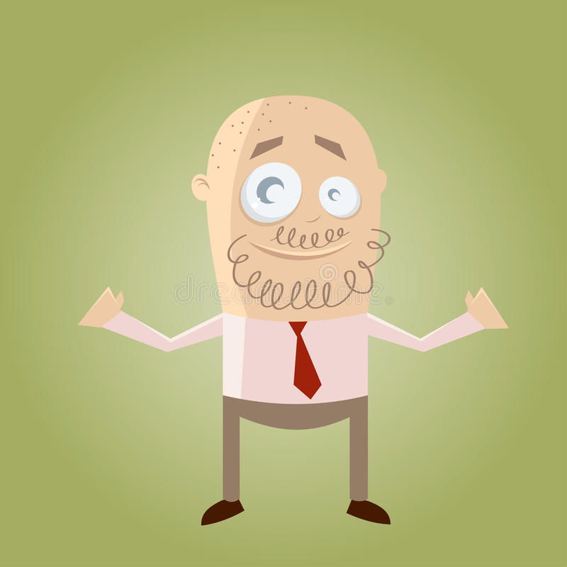 Cartoon businessman with beard