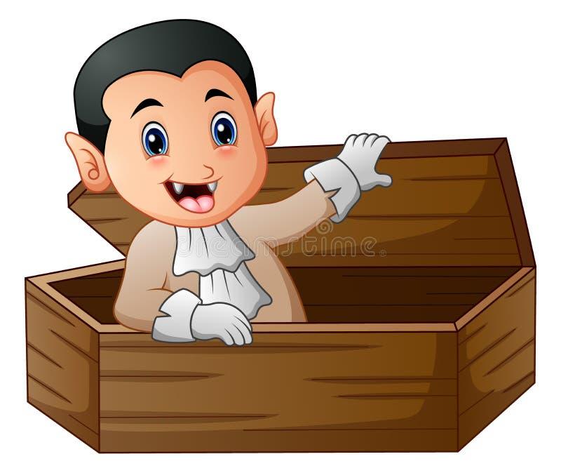 cartoon dracula rising from his coffin stock vector illustration rh dreamstime com cartoon coffin ship cartoon coffin pics