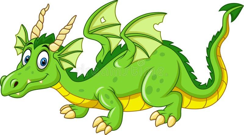Cartoon dragon isolated on white background. Illustration of Cartoon dragon isolated on white background vector illustration