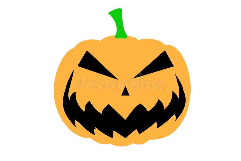 Illustration of cartoon Halloween pumpkin on White background. stock illustration