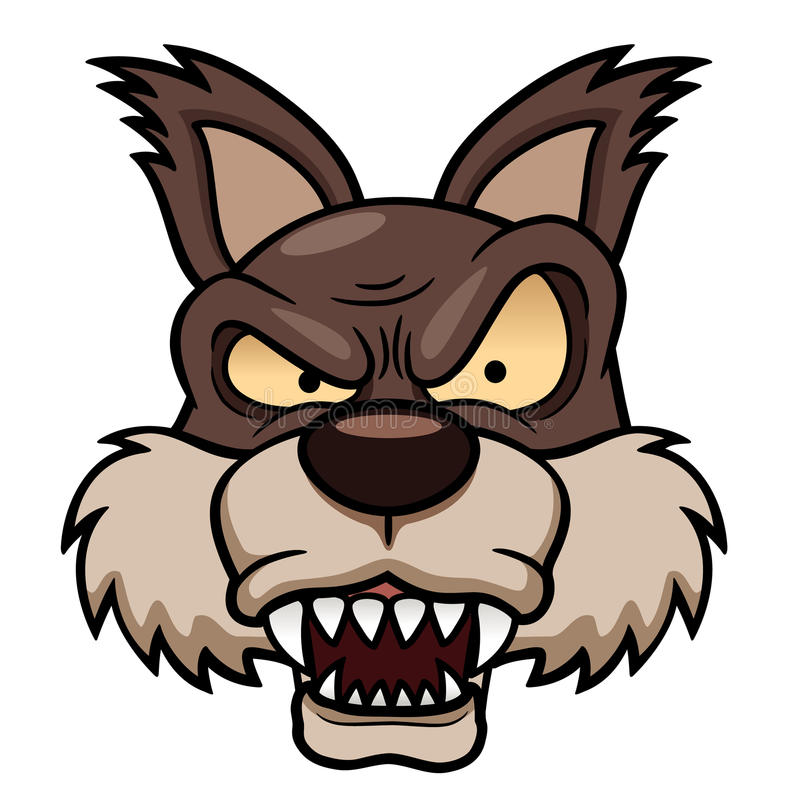 Wolf face stock illustration