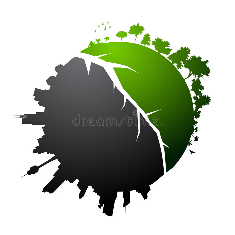 Illustration cassée de planète