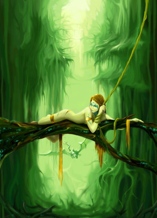 fairy forest vector illustration