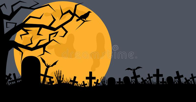 Illustration of cemetery royalty free illustration