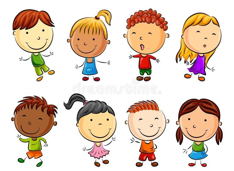 Happy kid cartoon royalty free illustration