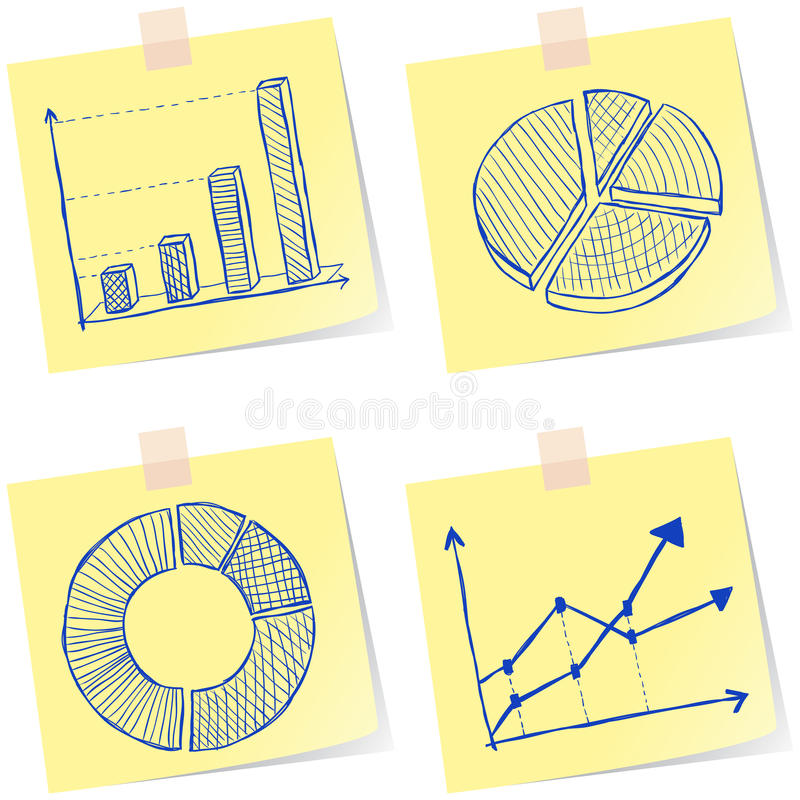 Download Charts sketches stock illustration. Image of business - 30290600