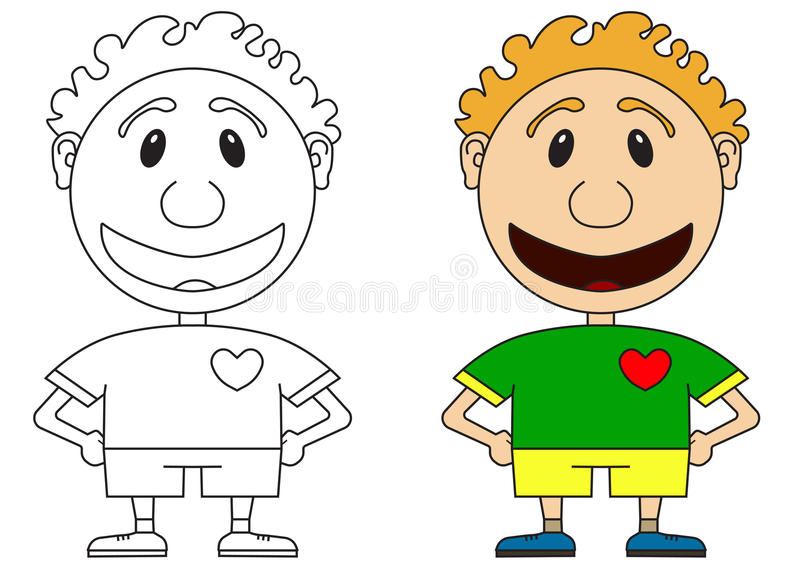 Illustration of the cheerful boy of the football player in a football form royalty free illustration
