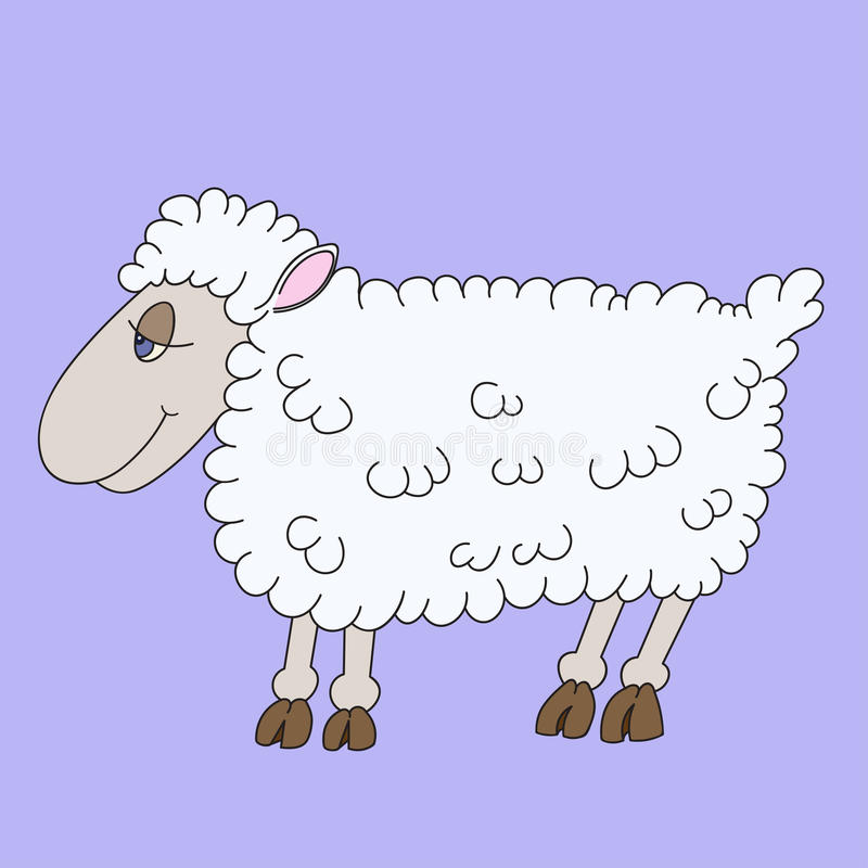 Illustration of a cheerful lamb vector illustration