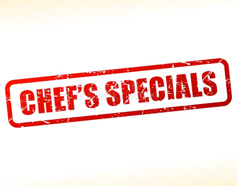 Chefs specials text stamp. Illustration of chefs specials text stamp vector illustration