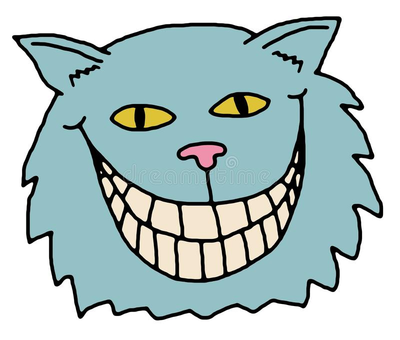 Cheshire Cat. Illustration of the Cheshire Cat, from Alice in Wonderland stock illustration