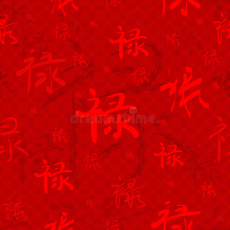 Illustration of Chinese Characters background vector illustration