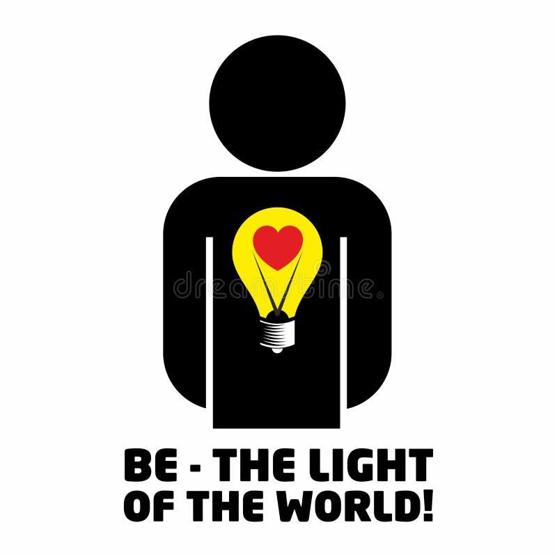 Illustration chrétienne Soyez la lumière du monde illustration libre de droits