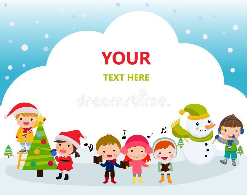 Christmas children stock illustration
