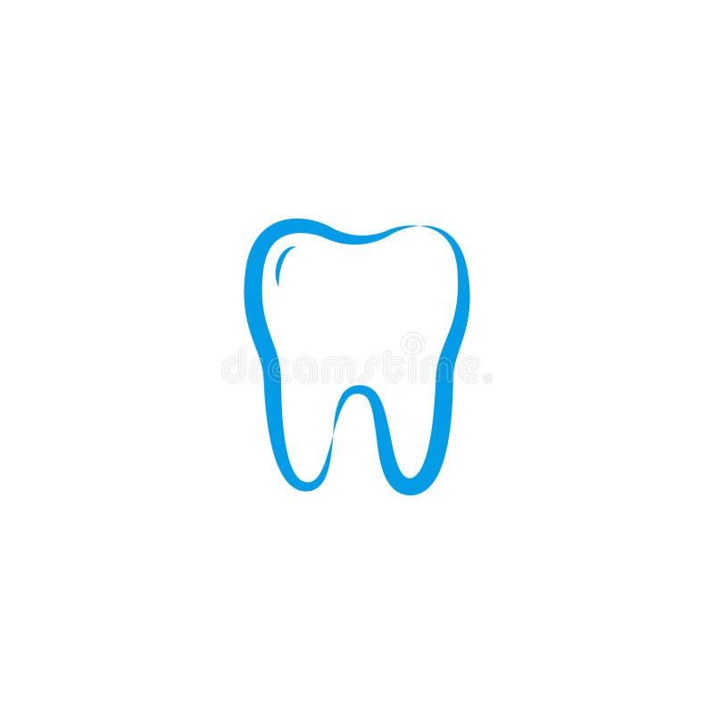 Illustration of clean dental tooth logo design template royalty free illustration