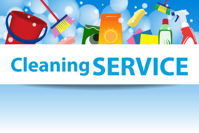 Cleaning Service Illustration  Poster Template For House