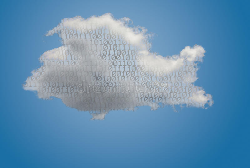 Illustration of cloud computing web services architecture royalty free stock photography