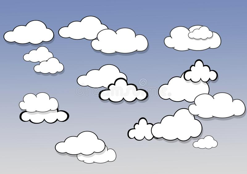 Download Clouds. stock illustration. Image of cloud, background - 30016330