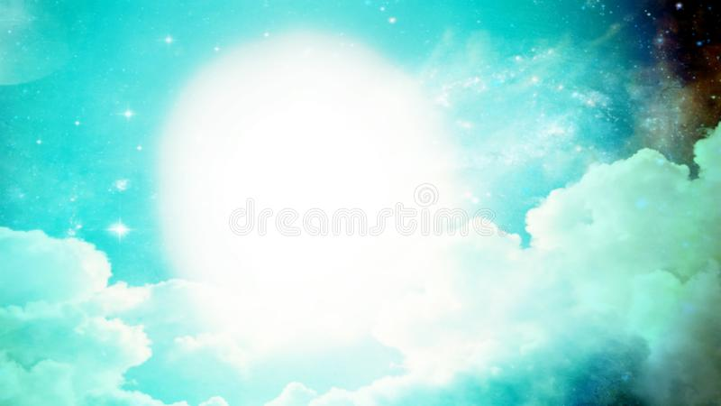 Illustration of clouds with light background. Blurred. Illustration clouds light background blurred heaven glowing wallpaper sky top view outdoor space graphic royalty free illustration