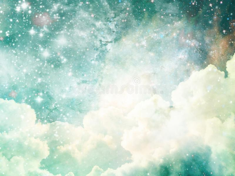 Illustration of clouds sky background. Blurred. Illustration clouds sky background blurred space star astrology heaven weather creative concept element natural royalty free illustration