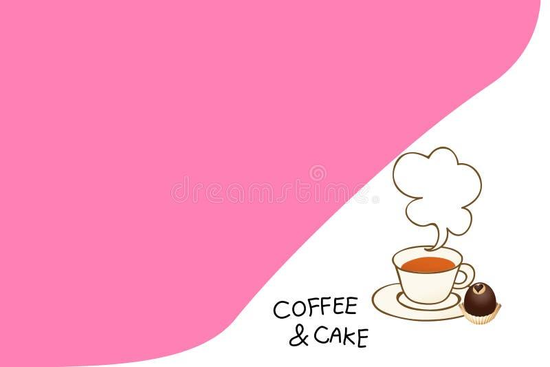 Illustration of coffee theme element on white background. Illustration coffee theme element white background wallpaper backdrop drink fresh morning cartoon text stock illustration