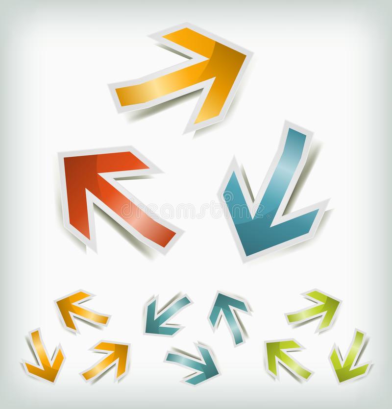 Download Vintage Arrows Icons Loops stock vector. Image of environment - 29793070