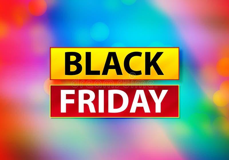 Illustration colorée abstraite de conception de Bokeh de fond de Black Friday illustration de vecteur