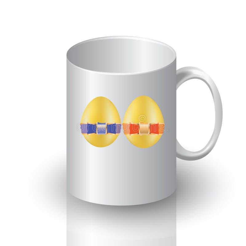 Tasse de Pâques illustration stock