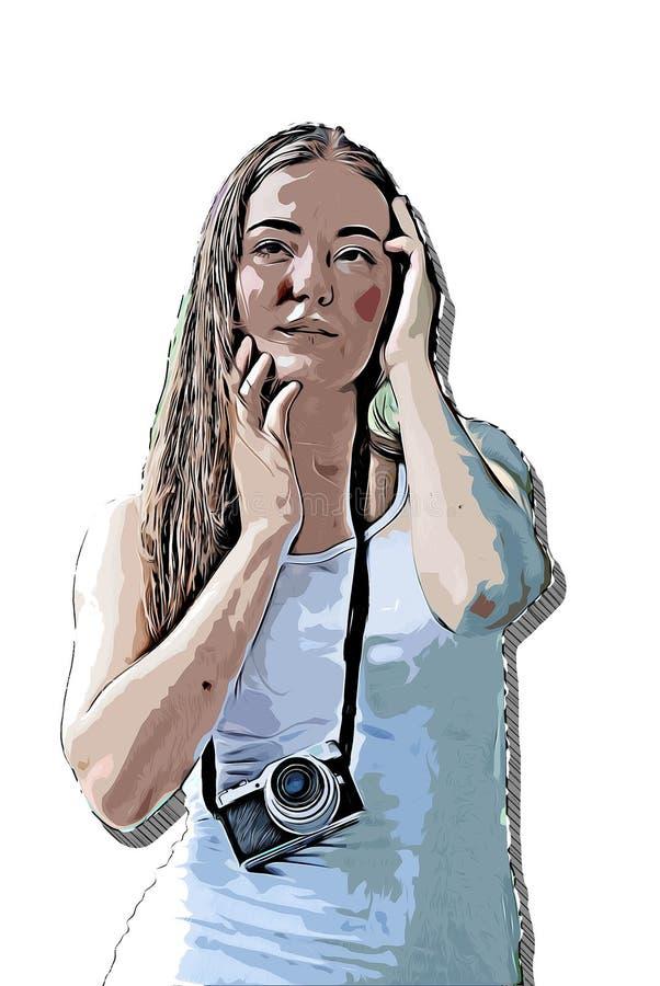 Illustration colorée d'aquarelle de corps de femmes de résumé belle illustration stock