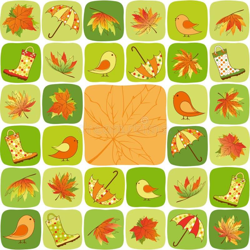 Illustration colorée d'automne illustration de vecteur