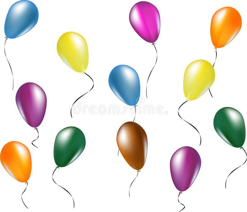 Illustration colorée de ballons photographie stock libre de droits