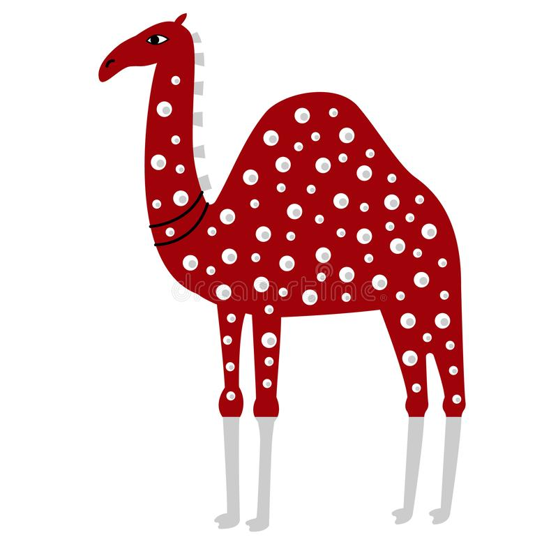 Illustration colorée de chameau sur le fond blanc illustration stock