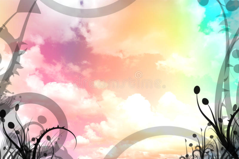 Illustration colorée de ciel illustration stock