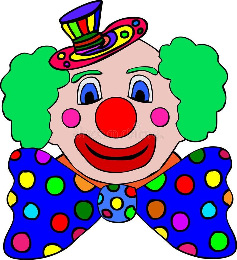 illustration colorée de clown illustration stock