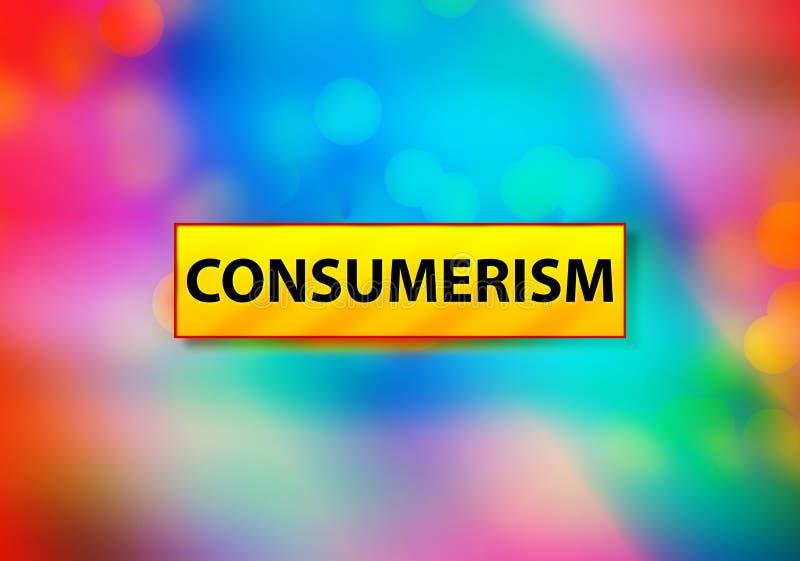 Illustration colorée de conception de Bokeh de fond d'abrégé sur consommationisme illustration libre de droits