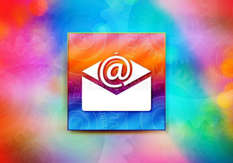 Illustration colorée de conception de bokeh de fond d'abrégé sur icône d'email de bulletin d'information illustration libre de droits