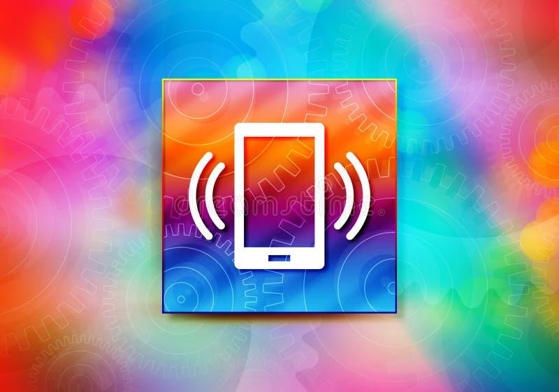 Illustration colorée de conception de bokeh de fond d'abrégé sur icône de signal de réseau de Smartphone illustration libre de droits