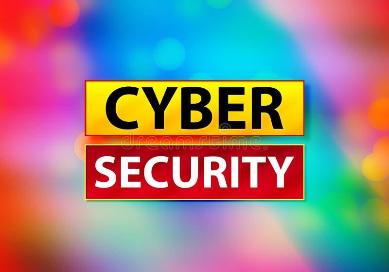 Illustration colorée de conception de Bokeh de fond d'abrégé sur sécurité de Cyber illustration libre de droits