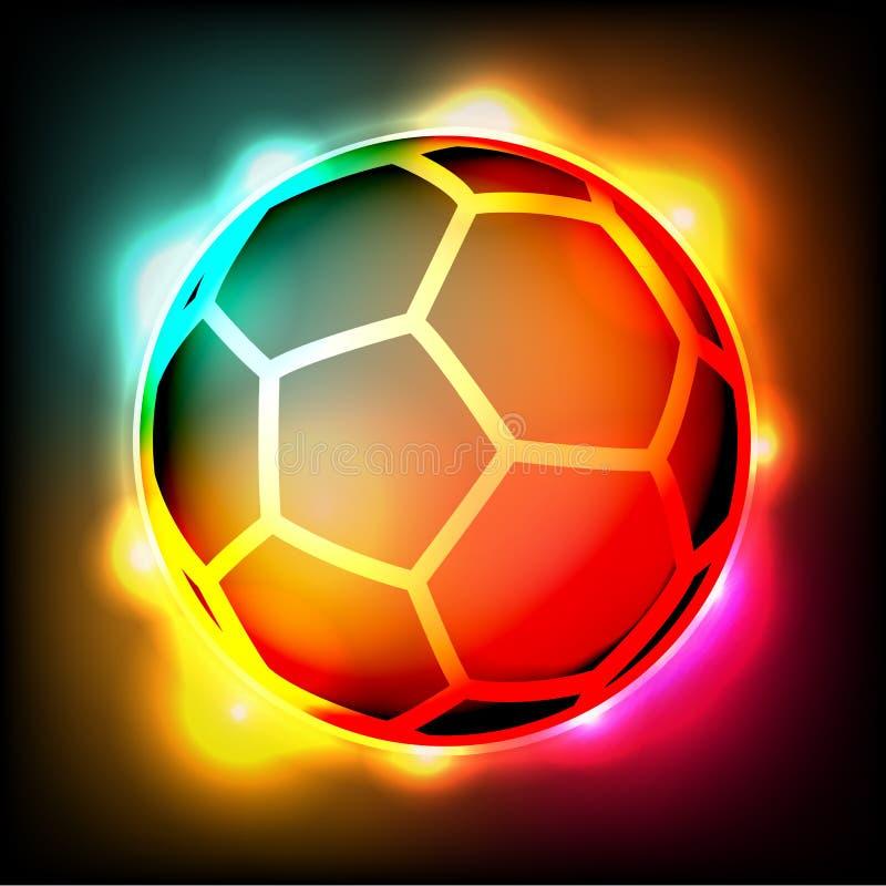 Illustration colorée de lumières du football de ballon de football illustration de vecteur