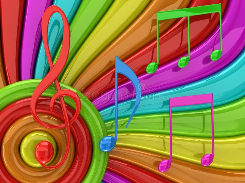 Illustration colorée de musique illustration libre de droits