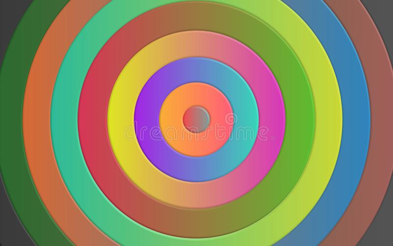 Illustration colorée de papier peint de cercles illustration stock