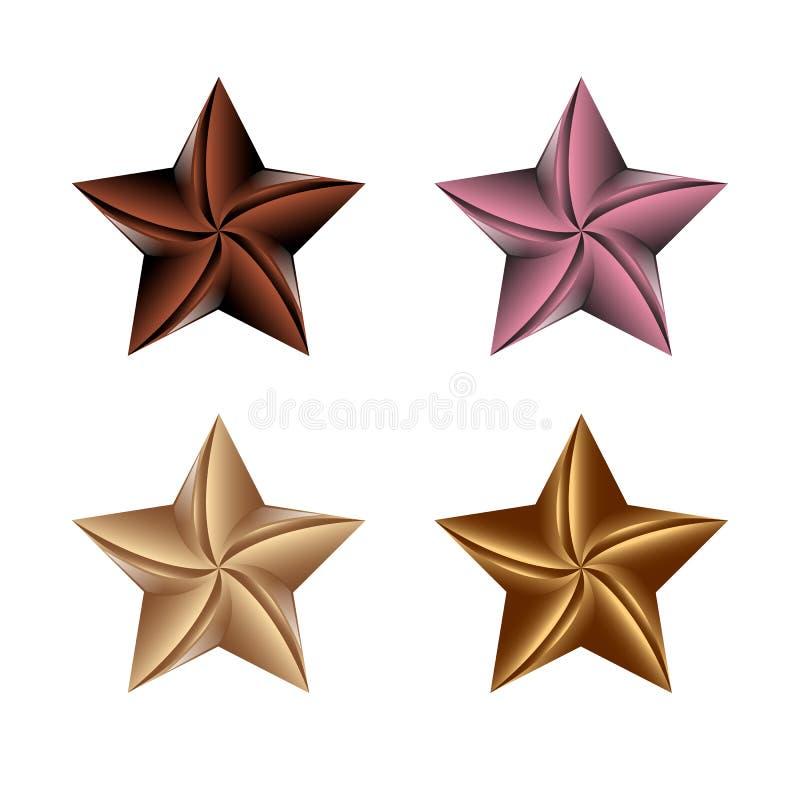 Illustration colorée de vecteur d'icône d'étoile d'isolement sur le fond blanc illustration stock