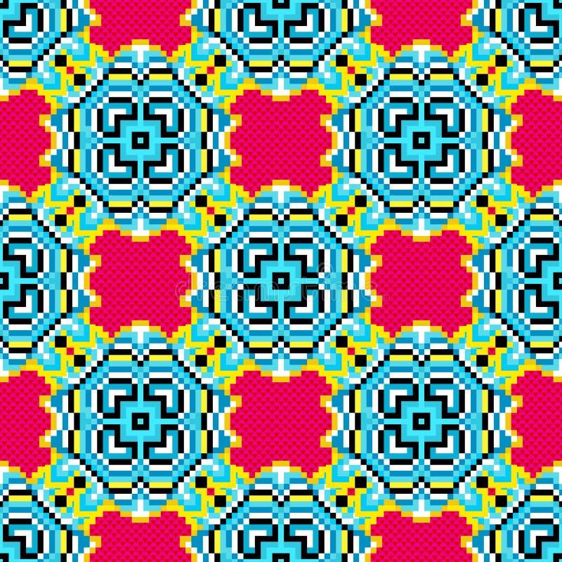 Illustration colorée géométrique abstraite de vecteur de fond de pixels illustration stock