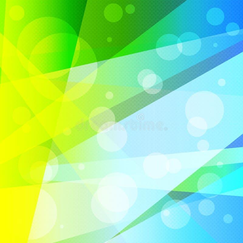 Illustration colorée géométrique abstraite psychédélique lumineuse de vecteur de fond illustration de vecteur