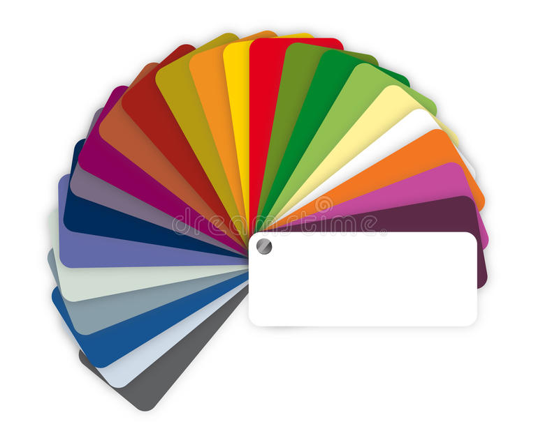 Illustration of a color guide with shades vector illustration