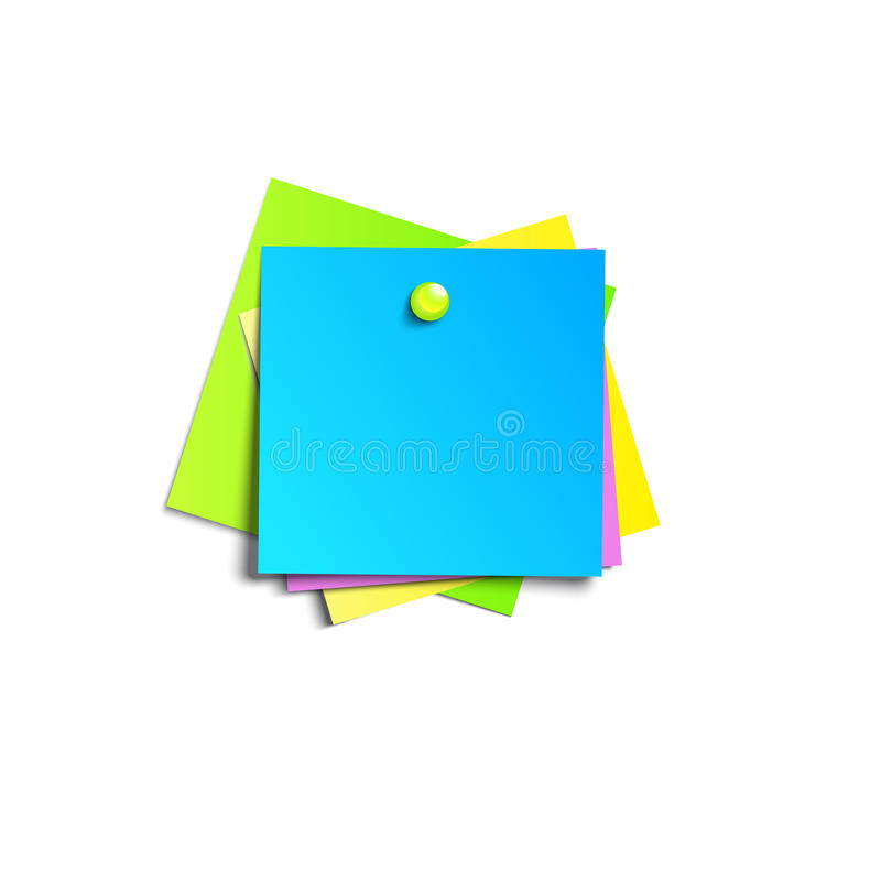 Illustration of a colored set of sticky notes vector illustration