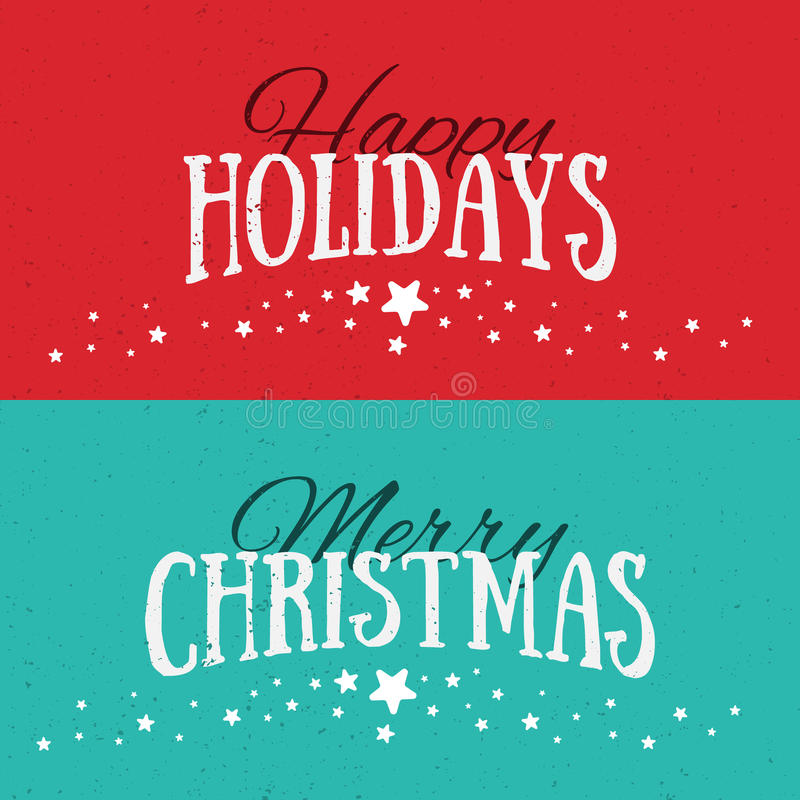 Illustration Of Colorful Paper Cards With Happy Holidays