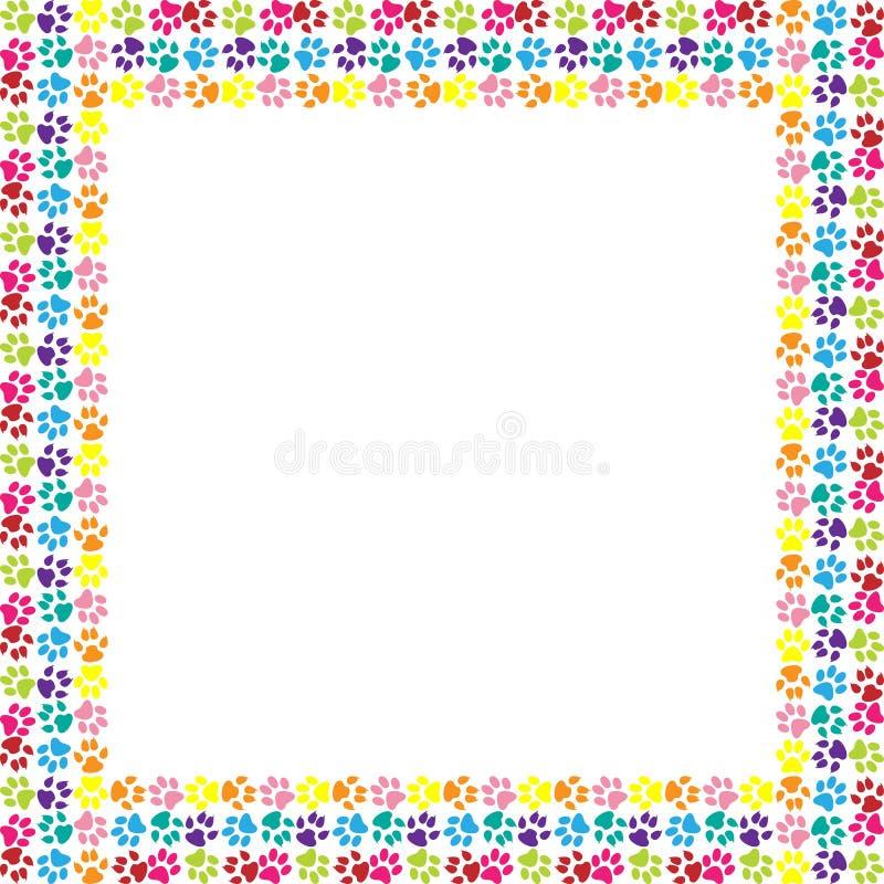 Paw print frame stock vector. Illustration of feel, pattern - 30072038
